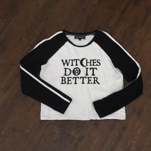 Witches Do It Better Blackcraft baseball tee